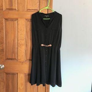Dresses & Skirts - Sleeveless Black Button Up Dress Plus Size 3X